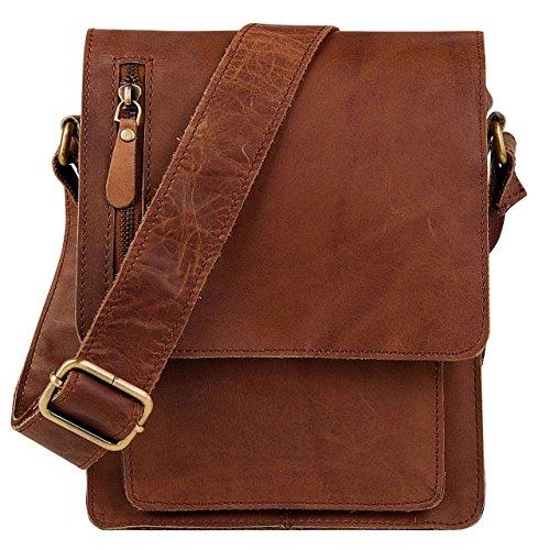 2ca01b7bcc STILORD 'Finn' petite sac a bandouliere pour hommes / Vintage Besace /  Messenger Bag / Sac à l'épaule porté lanière cuir de buffle véritable