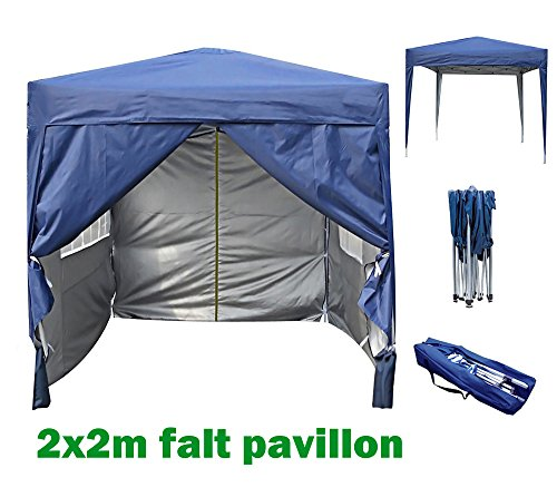 2x2m Pavillon, Gartenpavillon, Falt-Pavillon, Festzelt, Partyzelt, Komplettset in 6 Farben von MCC (Blau)