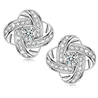 Alex Perry Women Pierced Stud Earrings Satellite Collection Gold Plated Cubic Zirconia Christmas Gifts Jewellery for Birthday Anniversary Valentine's Day Mother Wife Daughter Girl Her