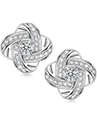 Alex Perry Satellite Series 925 Sterling Silver 5A Cubic Zirconia Women Piecered Stud Earrings, Christmas Gifts, Allergen-free Passed SGS Inspection