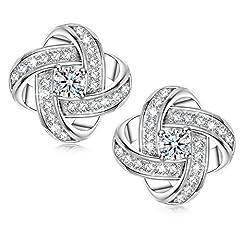 Idea Regalo - Alex Perry regalo di natale per donna orecchini di zirconi cubici argento 925 regali san valentino per lei gioielli donna regali natale regalo di compleanno per le donne ragazze amica mamma lei