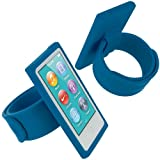 Baby Blue Armband Sport Gym Watchband Silicone Rubber Gel Soft Skin Case Cover for Apple iPod Nano 7th Generation 7G 7