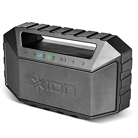 ION Audio Plunge Waterproof Bluetooth Speaker with Built-In Rechargeable Battery,