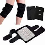 #9: Flyngo (Set OF 2) Knee Hot Belt For Leg Pain Self Heating Magnetic Knee Strap Knee Cap/Support For Pain Relief Knee Protection Magnetic Therapy Heating Belt