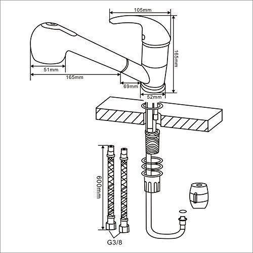 HOMELODY Küchenarmatur mit ausziehbarer Brause - 7
