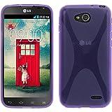 PhoneNatic Case kompatibel mit LG L90 Dual - lila Silikon Hülle X-Style Cover
