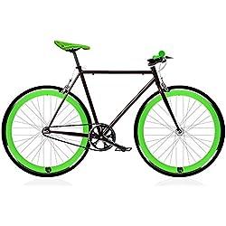 Bicicleta FIX black and green. Monomarcha fixie / single speed. Talla 56 …