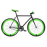 Bike Fix Black and Green. Singlespeed Fixie/Single Speed. Size 56..