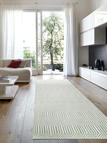 Benuta Alfombra de Pasillo Sloan Turquesa 80x 300cm   Moderna Alfombra para salón y Dormitorio