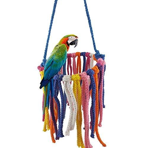 Carry stone Bunte pet Vogel Spielzeug papagei kauen hängen schaukel Seil nymphensittich käfig Nest dekor, zufällige Farbe langlebig und praktisch -