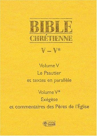Bible chretienne 5 psaumes par Anonyme