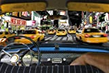 New York Poster Time Square Taxi Ride