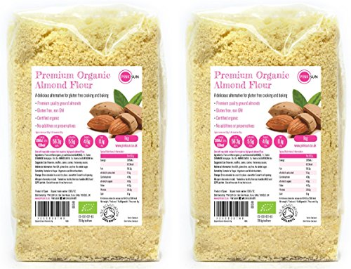 Organic Ground Almonds 2kg (1kg x 2) Almond Flour Low Carb Blanched Meal for Gluten Free Baking Vegetarian and Vegan - Pink Sun Bulk Buy Test
