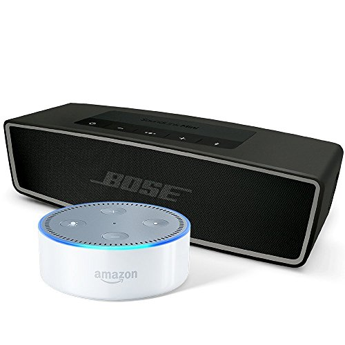Bose SoundLink Mini II, Carbon and Amazon Echo Dot (2nd Generation), White