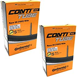 Continental Race 28 700 x 25-32c Bike Inner Tubes with Presta 60mm Valve (Pair)
