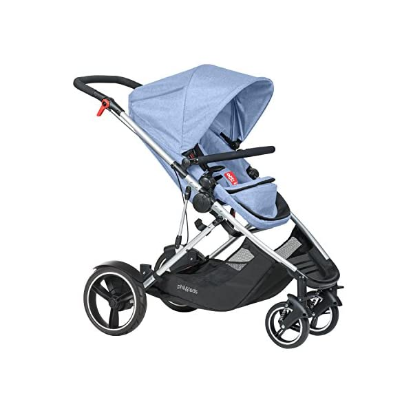 phil&teds Voyager Buggy Pushchair, Blue phil&teds 4-in-1 modular seat with four modes: parent facing, forward facing, lay flat bassinet (on buggy) and free standing bassinet (off buggy) Revolutionary stand fold with 2 seats on Double kit easily converts to lie flat mode as well 2