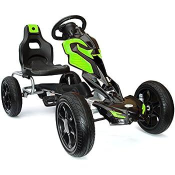 vidaXL Kart à Pédale avec Siège Ajustable Vert pour