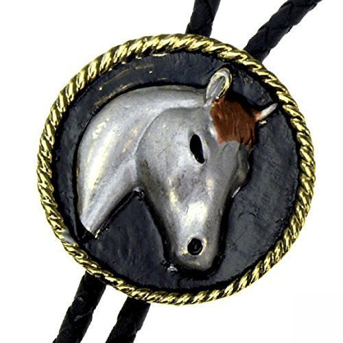 Preisvergleich Produktbild Bolo Tie Pony - naive style,  Pferdkopf,  Bolotie,  Western-Krawatte
