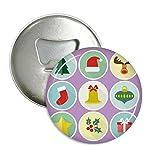 DIYthinker cerchio verde albero di natale illustrazione rotonda apribottiglie magnete del frigorifero pins distintivo 3pcs pulsante regalo Argento
