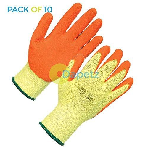 daptez 10x látex Albañiles Guantes Grande Calidad PPE para construcción y Genral USO