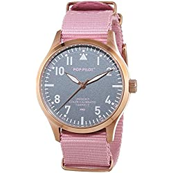 Pop-Pilot Unisex-Armbanduhr MRS Analog Quarz Nylon P4260362631126