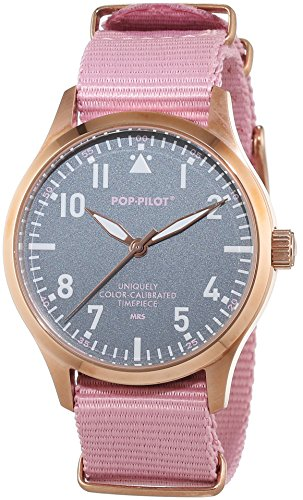 Pop Pilot Unisex Analog Quarz Smart Watch Armbanduhr mit Stoff Armband MRS - Aviator Damen Watch