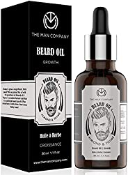 The Man Company Beard Growth Oil for Men - (Almond & Thyme) for Beard Growth (30ml)