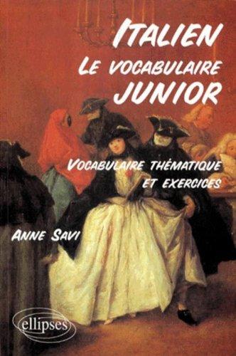 Le vocabulaire junior italien