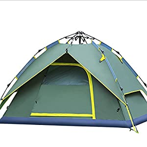 hydraulic dome tent canopy for camping automatic waterproof hydraulic tents 3-4 person canopy easy to set up and package green by qisan