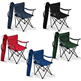 divinezone Folding Camping Small Chair Portable Fishing Beach Outdoor Collapsible Chairs- Color May Vay