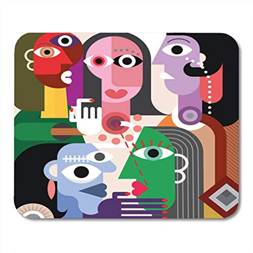 AOCCK Gaming Mauspads, Gaming Mouse Pad Generation Large Family Abstract Art Illustration Picasso Adult Advise Company 11.8