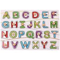 Tangda Puzzle de Encajar 26 Piezas Letras Alfabeto Inglés Juguete Juego Educativo para Niño Niña