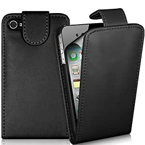 Generic Supergets Synthetic Leather Case mit Screen Protector/Cloth/Mini Stylus für Apple iPhone 4/4S
