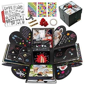 int!rend Geschenk DIY Foto Box Set inkl. Sticker, 5 Themen Schablonen, personalisierte Überraschungsbox für Geburtstag…