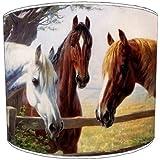 Premier Lighting Ltd 12 inch chevals Childrens Abat-Jour pour Un plafonnier