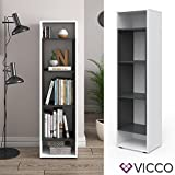 Vicco Bücherregal Anthrazit Weiss Regal Holzregal Schrank Wandregal Büroregal Aktenregal (Beton)