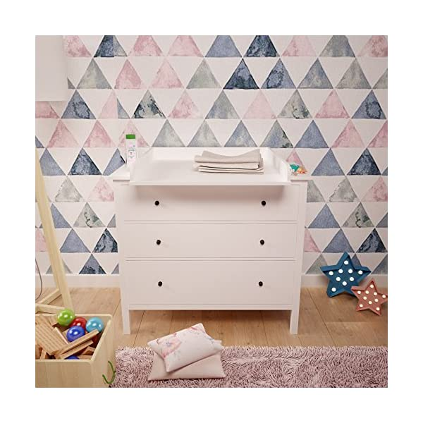Polini Changing Board for Hemnes Chest of Drawer, White Polini Kids Ikea Malm Wickelaufsatz 2