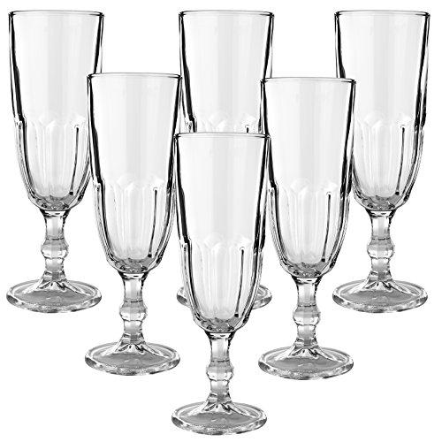 12er Set Libbey Hochwertige Sektgläser Champagnergläser aus Glas - max. 160ml - spülmaschinenfest - ohne Füllstrich