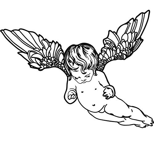Geiqianjiumai Flying Angel Angel Kinderzimmer Wandaufkleber Wanddekoration Wohnzimmer Schlafzimmer...