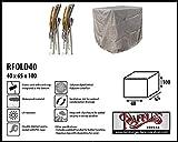Raffles Covers RFOLD40 Abdeckung für Klappstühle 40 x 65 cm Schutzhülle für Stapelstühle und Relaxsessel, Abdeckhaube für Gartenstühle