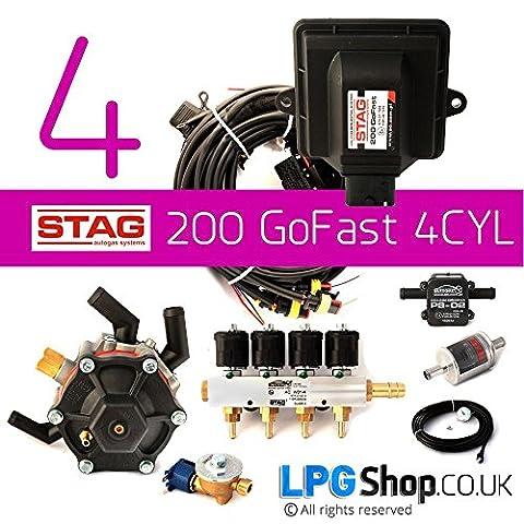 AC 200Cerf gofast–FULL GPL/GPL carburant 4cylindre Kit de conversion.