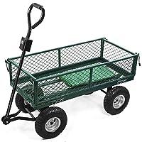 Sofatbed Heavy Duty Large Garden Trolley Cart Truck Utility Wagon Wheelbarrow Load Capacity 300kg
