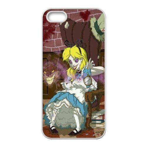 Dark Alice coque iPhone 4 4S Housse Blanc téléphone portable couverture de cas coque EBDXJKNBO15849