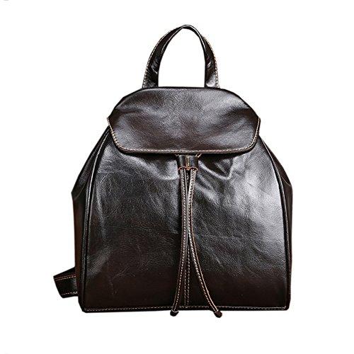 Damen Retro Leder Vintage Rucksack Tasche Leder Rucksack Ledertasche Lederrucksack Damen Schultertasche Leder Rucksack Für Mädchen (Braun)
