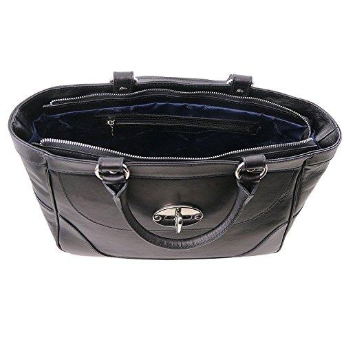 Tuscany Leather - TL NeoClassic - Mittelgroße Leder Handtasche für Damen Rot - TL141226/4 Schwarz