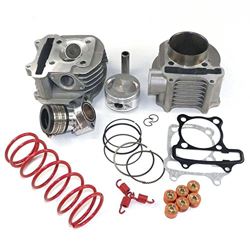 YunShuo Performance Big Bore Zylinder Kit & Kopf 170cc 61mm GY6 125cc 150cc Roller (Big Kit Bore 170cc)