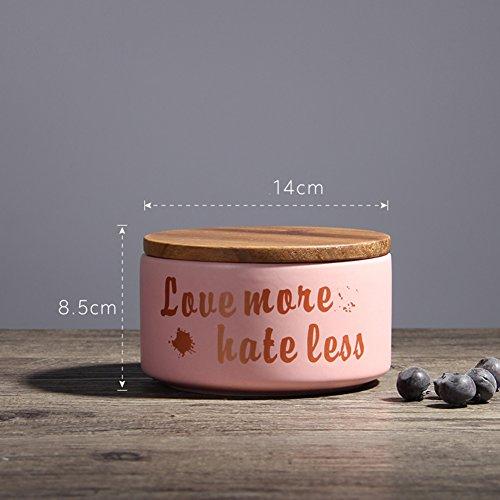 Nordic Kreative Keramik Dicht Topf Hause Keramik Dekorationen Küche Kaffee Und Tee Kanister Mit Deckel (2 Stück),Pink (Küche Kanister-sets-lila)