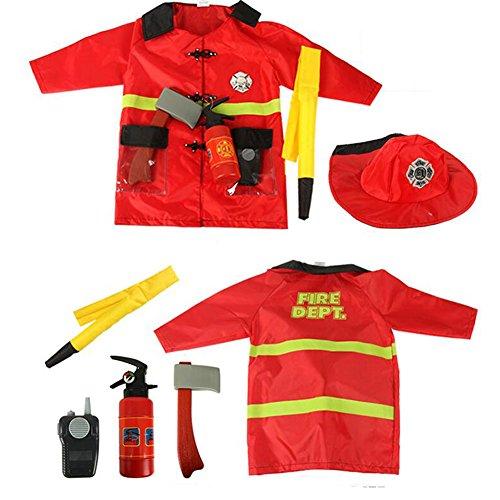 Imagen de infantil juego de rol disfraz set inclinada fingir disfraz halloween y assessories, 3 7 años  bombero, one size alternativa