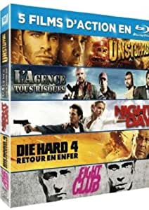Unstoppable, L'agence tout risque, Night and Day, Die Hard 4, Fight Club [Blu-ray]