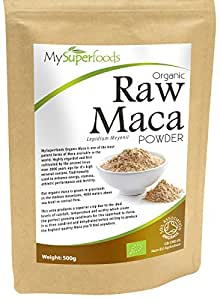 Organic Maca Powder (500 grams) | MySuperFoods | Packed with Healthy Nutrients | Ancient Health Food from Peru | Delicious Malty Flavour | Certified Organic